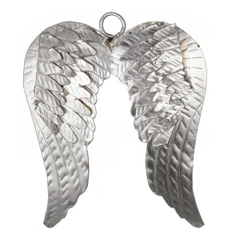 METAL ANGEL WINGS - SILVER Silver