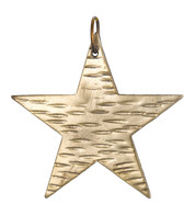 Hammered metal stars - GOLD - Gold