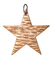 Hammered Metal Stars - COPPER - Copper