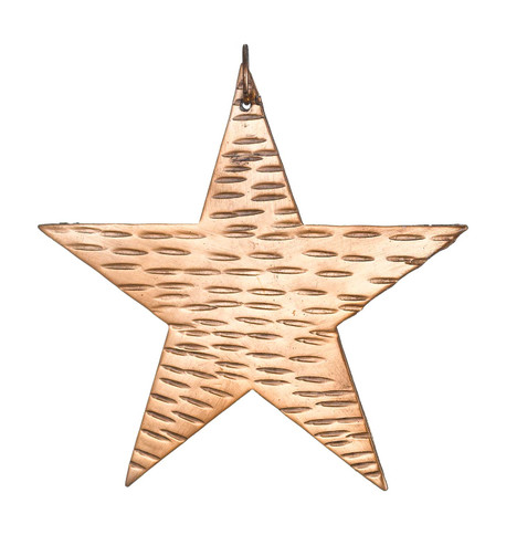 Hammered Metal Stars - COPPER Copper
