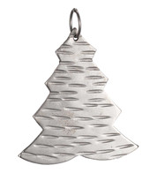 Hammered METAL TREE -  SILVER - Blue