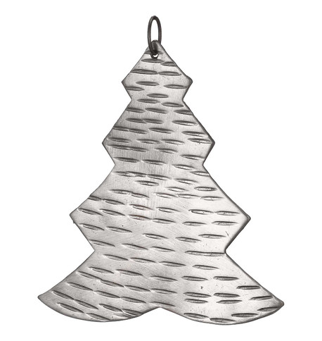 Hammered METAL TREE -  SILVER Silver