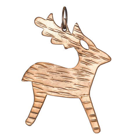 Hammered METAL REINDEER - COPPER Copper