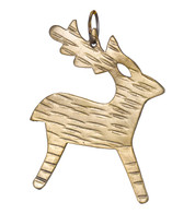 Hammered METAL REINDEER - GOLD - Gold