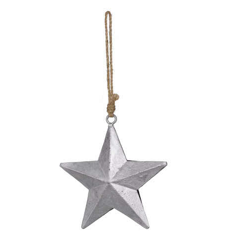 METAL STARS ON ROPE - SILVER Silver