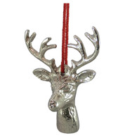 METAL DEER HEAD - SILVER - Silver