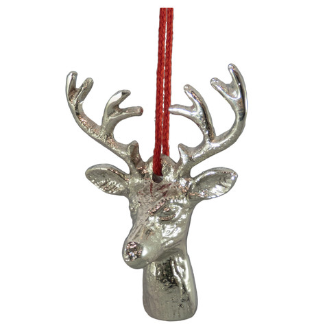 METAL DEER HEAD - SILVER Silver