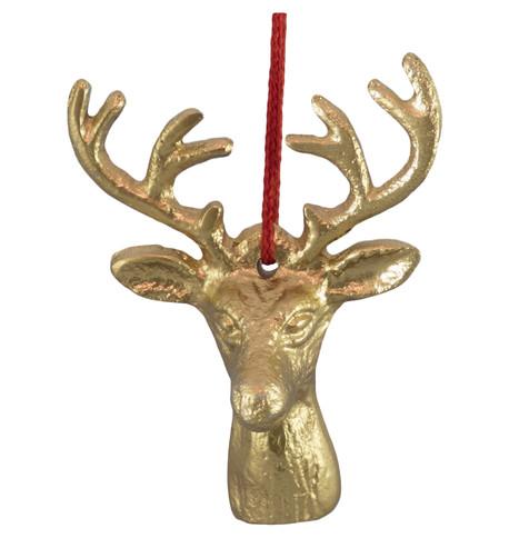 METAL DEER HEAD - GOLD Gold