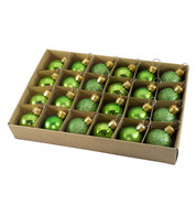 Apple Green 30mm Baubles - Green