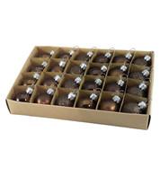Brown 30mm Baubles - Brown