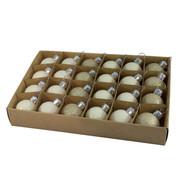 Cream 30mm Baubles - Cream