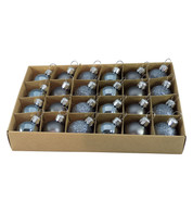 Graphite 30mm Baubles - Graphite