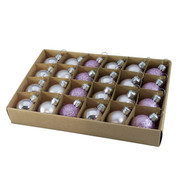 Lilac 30mm Baubles - Purple