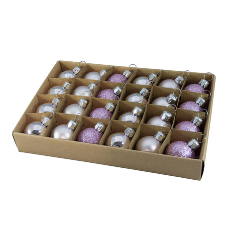 Lilac 30mm Baubles Lilac