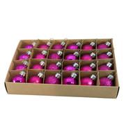 Pink 30mm Baubles - Pink