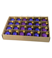 Purple 30mm Baubles - Purple