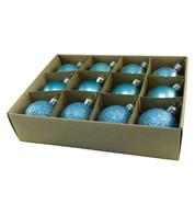 Duck Egg 48mm Baubles - Blue