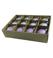 Lilac 48mm Baubles - Purple