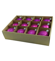 48mm BOXED BAUBLES - PINK - Pink
