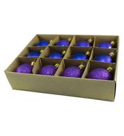 48mm BOXED BAUBLES - PURPLE - Purple