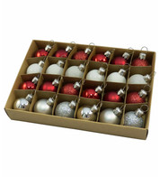 30mm BOXED BAUBLES - MIX A - Mixed