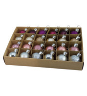 30mm BOXED BAUBLES - MIX B - Mixed