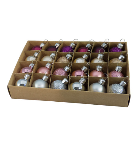 30mm BOXED BAUBLES - MIX B Mixed