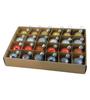 30mm BOXED BAUBLES - MIX C - Mixed