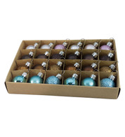 30mm BOXED BAUBLES - MIX D - Mixed