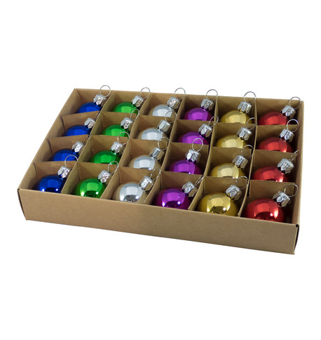 30mm BOXED BAUBLES - MIX E Mixed
