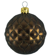QUILTED BAUBLES - MATT BROWN - Brown