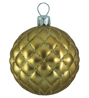 QUILTED BAUBLES - MATT GOLD - Gold