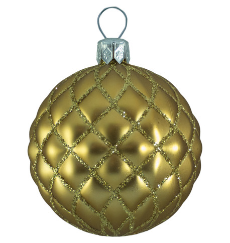 QUILTED BAUBLES - MATT GOLD Gold