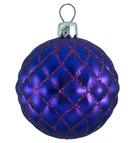 QUILTED BAUBLES - PURPLE MATT Purple