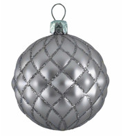 QUILTED BAUBLES -SILVER  MATT - Silver