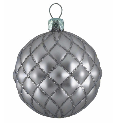 QUILTED BAUBLES -SILVER  MATT Silver