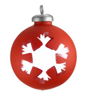 CUT OUT RED  WRAP BAUBLE - SNOWFLAKE - Red