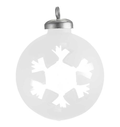 CUT OUT WHITE  WRAP BAUBLE - SNOWFLAKE White