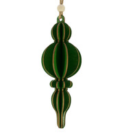 WOODEN CURVY FINIAL - GREEN - Green