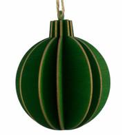WOODEN BALL DECORATION - GREEN - Green
