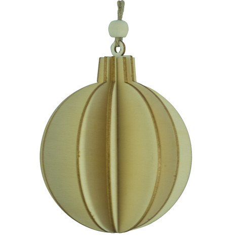 WOODEN BALL DECORATION - NATURAL Natural