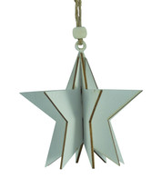 WOODEN STAR DECORATION - WHITE - White