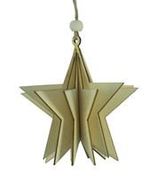 WOODEN STAR DECORATION - NATURAL - Natural