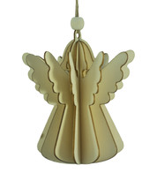 WOODEN ANGEL DECORATION - NATURAL - Natural