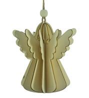WOODEN ANGEL DECORATION - NATURAL - Natural