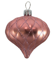 QUILTED ONION BAUBLES - BLUSH PINK MATT - Pink