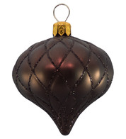 QUILTED ONION BAUBLES - BROWN MATT - Brown