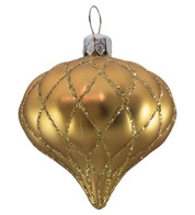 QUILTED ONION BAUBLES - GOLD MATT - Gold