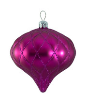 QUILTED ONION BAUBLES - PINK MATT - Pink