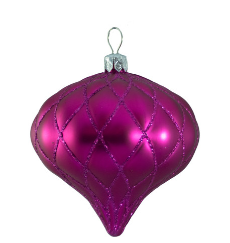 QUILTED ONION BAUBLES - PINK MATT Pink